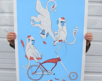 Monkey Wrench screen-printed poster