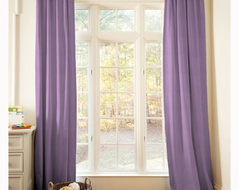 "Nursery Decor: Solid Aubergine Purple Drape - One Panel - Choose Your Length 64"" x 42 / 84""  x 42 /  96"" x 42"" by Carousel Designs"