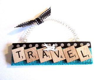 Travel Scrabble Tile Ornament