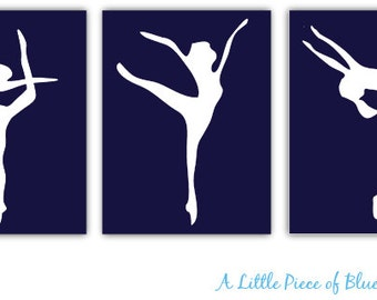 Dancer Silhouette. 8x10 or 11x14_ Dancers print_ Arabasque_3 piece set_Dance Silhouette