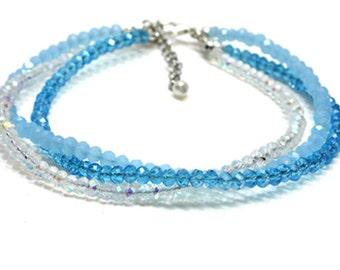 Blue Crystal Dog Collar. Light Blue Crystal Cat Collar. Blue Pet Jewerly. Blue Crystal Collar. Crystal Pet Collar. Crystal Collar For Dogs