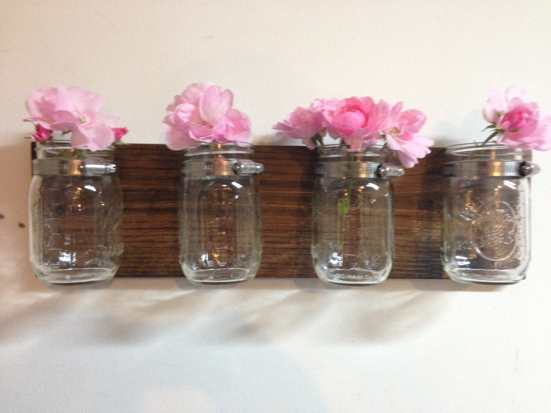 Mason Jar Vase With 4 Mason Jars Wall Mason By