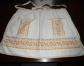 French Vintage Cotton Apron