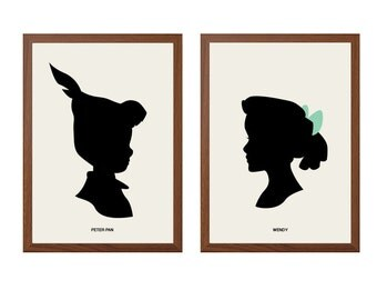 PETER PAN | And Wendy Darling Poster : Walt Disney Modern Illustration Retro Art Wall Decor Print