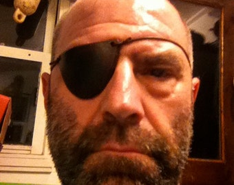 Leather Eye Patch, handmade and finished.