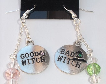 Good Witch Bad Witch Silver Earrings