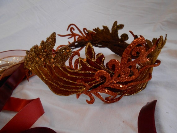 Phoenix Crown Dragon Queen Tiara Fire Fairy or Pixie Crown