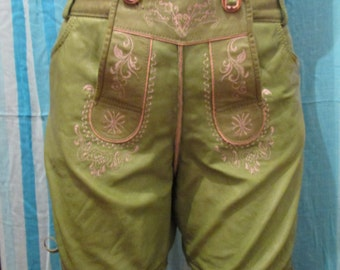 Cheap Stokerpoint apple-green lederhosen shorts
