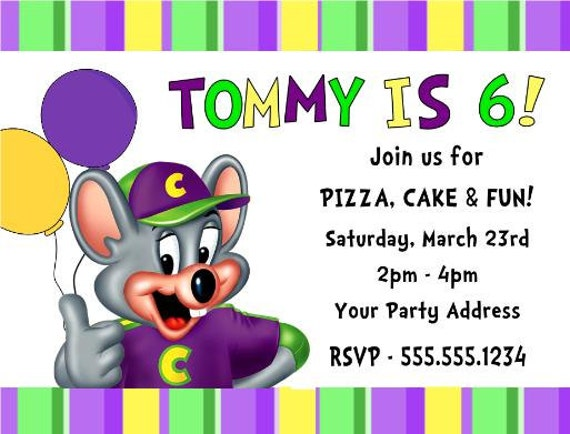 Chuck E Cheese Birthday Invitations was nice invitation layout