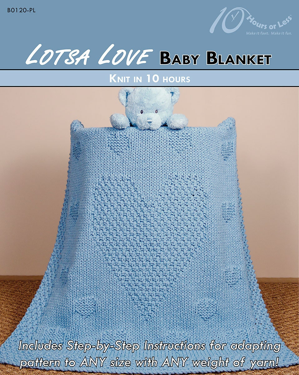 Knit And Purl Stitch Baby Blanket : LOTSA LOVE Knit Baby Blanket Pattern Digital File Download