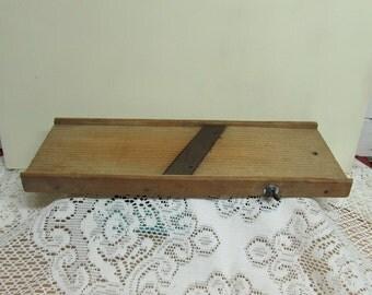 Wooden Cabbage Slicer or Kraut Cutter  ~ Mandolin  ~ Farmhouse Kitchen ~ Primitive ~ Rustic Decor