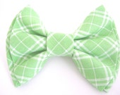 dog bow tie ,plaid green dog bow ,bowtie for dog ,dog collar bow tie ,wedding dog bow tie