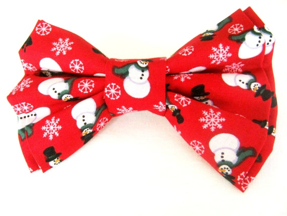 Items similar to Dog bow tie Red bow tie for dog Christmas dog bow ...