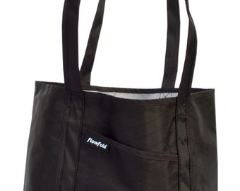 Flowfold Tough Beach Bag Porter Simple Tote Handmade in USA // Black