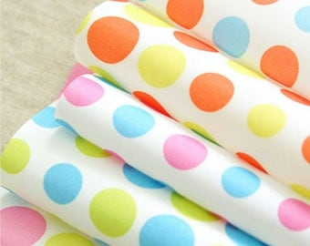 Waterproof Colorful Polka Dot in 5 Colors By The Yard