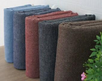 "Set of 5, 1/6 Yard Each, 14.17"" x 17.71"" (36 cm x 45 cm), 100% Cotton Chambray Fabric"