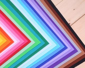 "Your Choice of 15 Colors of Hard Felt, 11.80"" x 8.60"" (30 x 22 cm)"