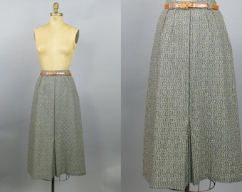 Salt and Pepper Skirt /  Tweed Skirt / British Walker Skirt / Small