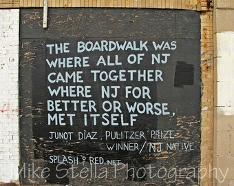 Boardwalk Quote, Asbury Park, Jersey Shore, 8x10 Inch Print