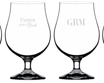Personalized Belgian Beer Groomsmen Glasses (per piece), 17.5 oz.