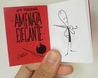 Amenaza Elegante zine, short comic by Luto
