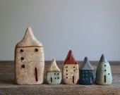 BIG little Cob House - Rustic Hand Sculpted Clay House - A Mymindsattic Original - Ready To Ship
