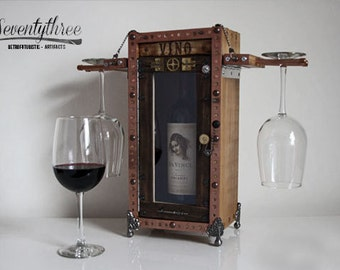 SteamPunk mini Bar 'Vino' for Two