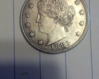 1883 No Cent V Nickel SPECIAL Price