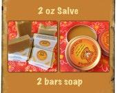 Skin Salve & Eczema soap bundle for rashes and dry skin