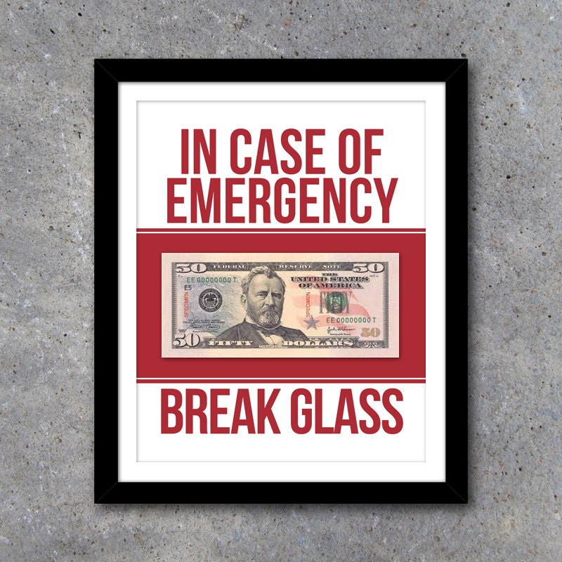 Refreshing image in in case of emergency break glass printable