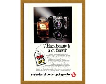 "1986 Amsterdam Airport Shopping Centre Print AD / A black beauty is a joy forever / 6"" x 9"" / Original Advertising / Buy 2 ads Get 1 FREE"
