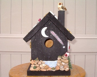 Starry Country Night Decorative Birdhouse