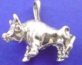 BULL Charm .925 Sterling Silver