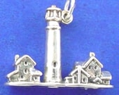 LIGHTHOUSE Charm, Cape May Light House, New Jersey .925 Sterling Silver Charm