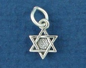 JEWISH STAR Of David Charm, MINIATURE Small .925 Sterling Silver