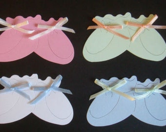 15 large Pastel baby Bootie Die cuts for cards/toppers*cardmaking*scrapbooking*paper craft projects