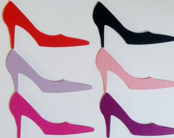 25 large High heel Shoe Die cuts for cards/toppers cardmaking scrapbooking craft project