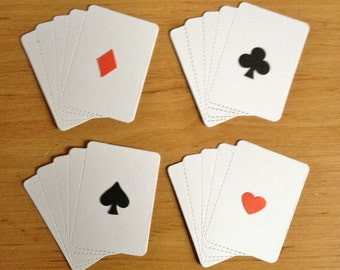 10 Playing card die cuts for Male/men/boys Cards/toppers cardmaking scrapbooking crafting craft project