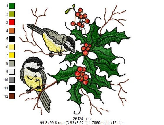 Winter Woodland Christmas Embroidery Designs - PES
