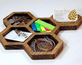 GeoTray - Geometric Desk and Jewelry Tray Organizer