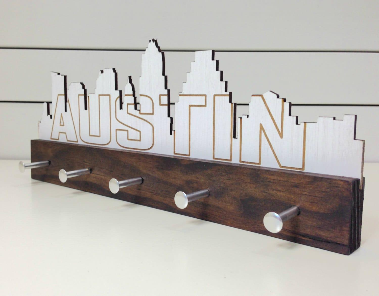 austin skyline key holder wall mounted modern wood. Black Bedroom Furniture Sets. Home Design Ideas
