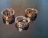 Human chromosome rings in polished bronze