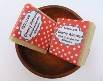 Homemade soap Cherry Almond  natural soap cherry almond handmade soap