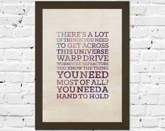 0072 Dr Who Quote A3 Wall Art Print Multiple Sizes