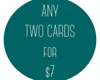 TWO CARDS: Mix & Match!