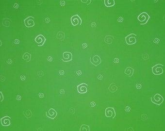 12x12 Green Swirls Paper