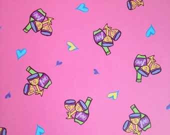 12x12 Pink  Champagne Toast Paper
