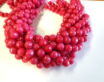 Beautiful Pink Faceted Jade