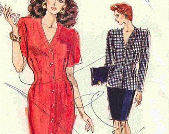 Vogue 7245, Dress, Tunic and Skirt   Misses' or Petite Sizes 18-20-22   Factory folded. 1980s