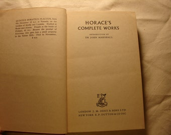 Vintage book, Classics, Horace's Complete Works